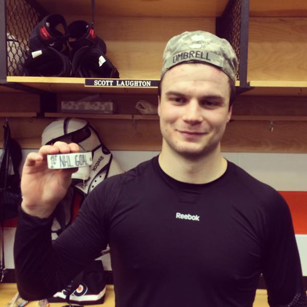 Laughton's First Goal
